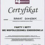 Hubert Gołąbek certyfikat