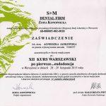 Agnieszka Jankowska certyfikat