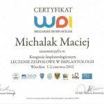 Maciej Michalak certyfikat